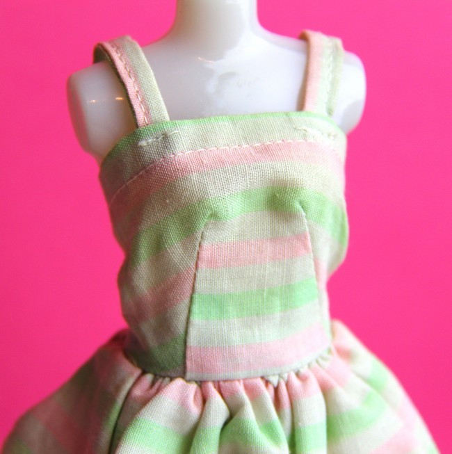 handmade barbie dress e