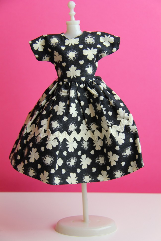 handmade barbie dress f