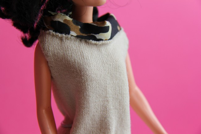 handmade barbie jersey dress