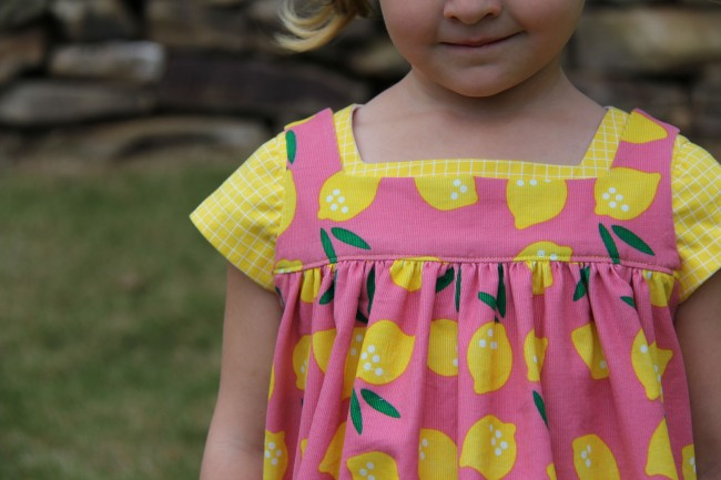 Small World corduroy | Pinafore by Whipstitch in Lemon Drop