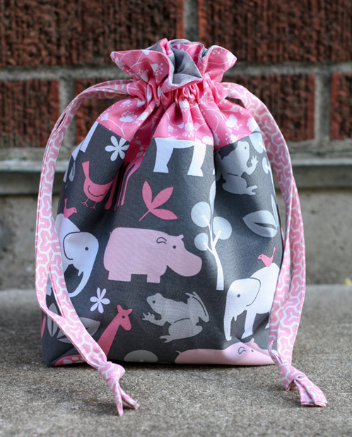 lined drawstring bag in color order
