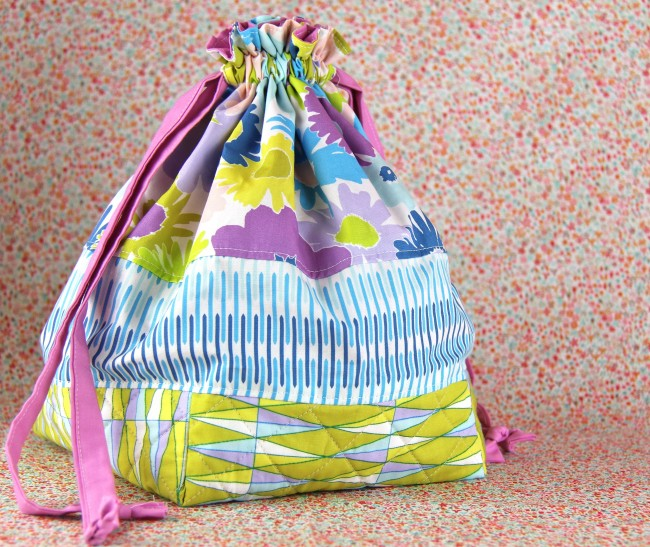 quilted drawstring bag 1