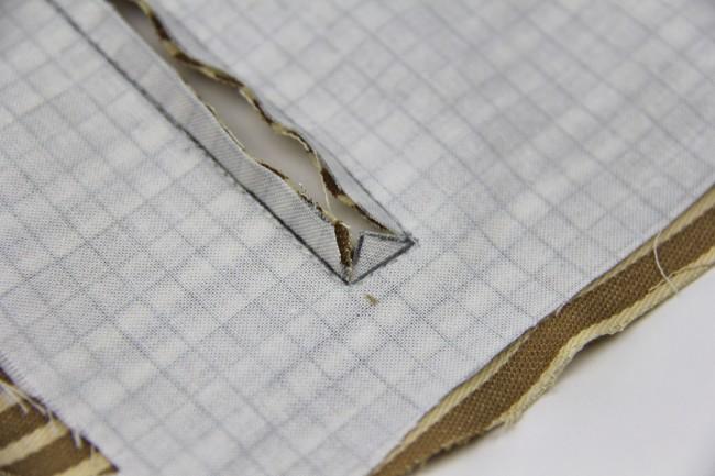 exposed enclosed zipper tutorial step 1