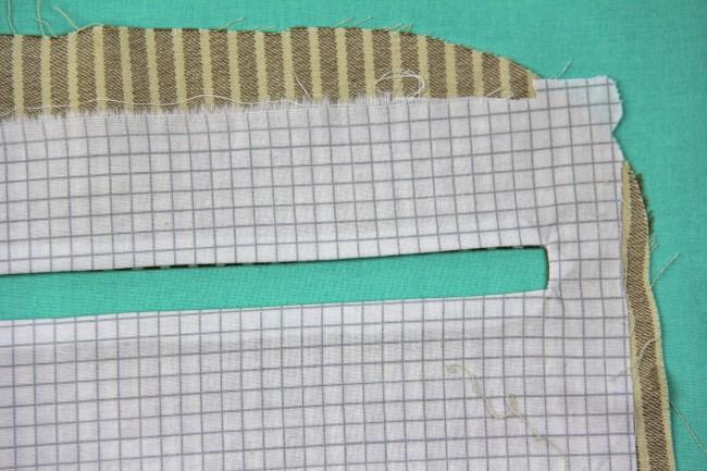 exposed enclosed zipper tutorial step 2