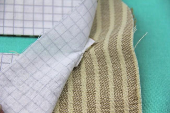 exposed enclosed zipper tutorial step 3