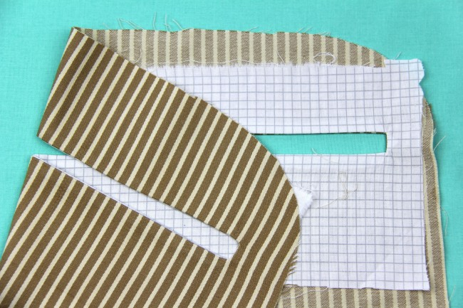 exposed enclosed zipper tutorial step 4