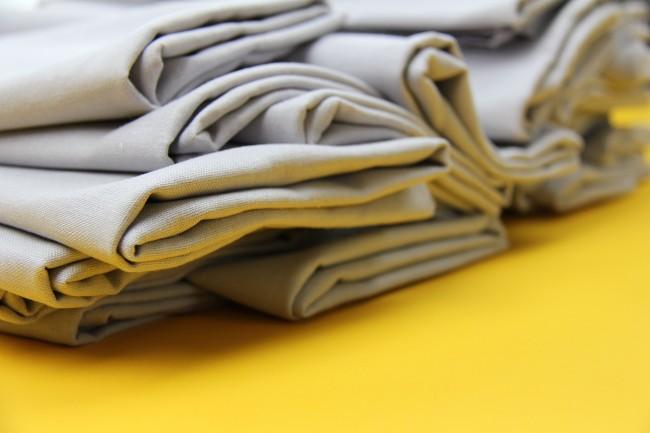 mitered linen napkins