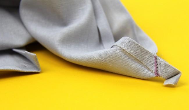 mitering napkin corners