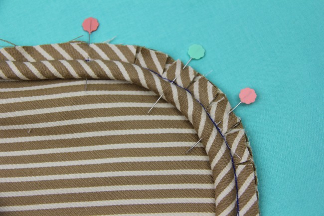 sewing piping to a curve