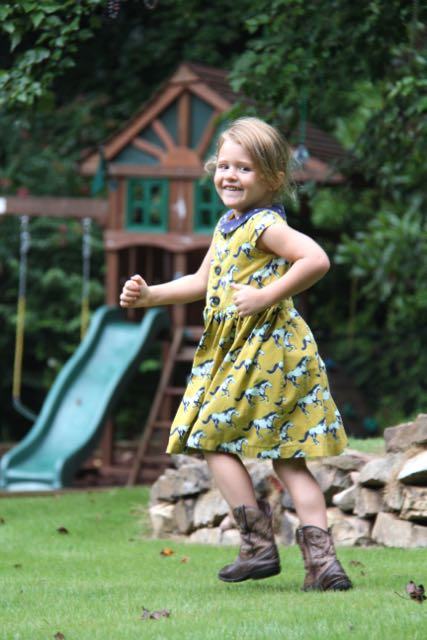FLip Flop Dress sewing pattern for girls sizes 2T to 6