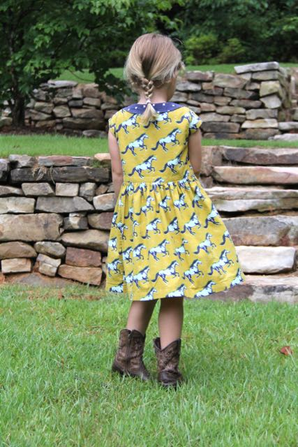 Flip Flop Dress sewing pattern back view