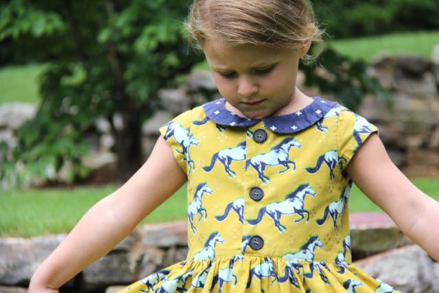 Flip Flop Dress sewing pattern view A