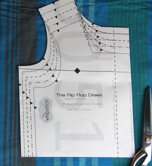 The Flip Flop Dress: cutting the front bodice