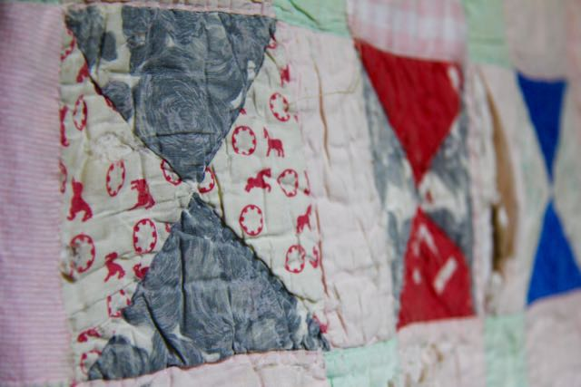 vintage hand quilting