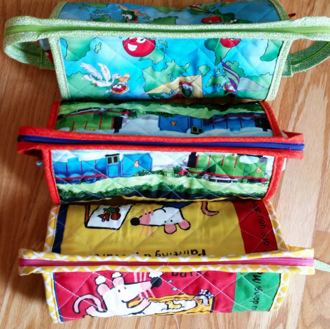 sew together bag as school pencil pouch