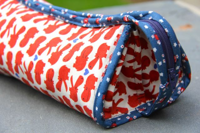 sew together bag visible basting stitches