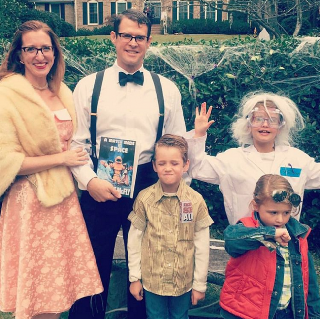 family back to the future costumes for halloween