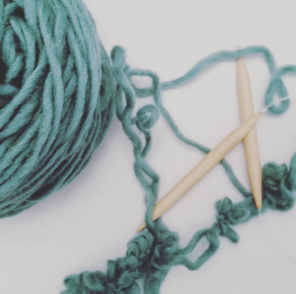 frogging yarn after knitting mistakes