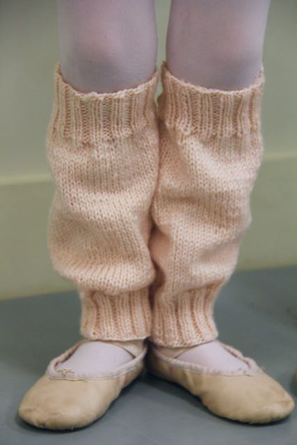 leg warmers made w magic loop