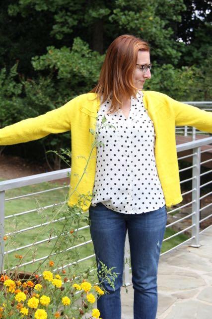 Georgia cardigan in yellow yellow
