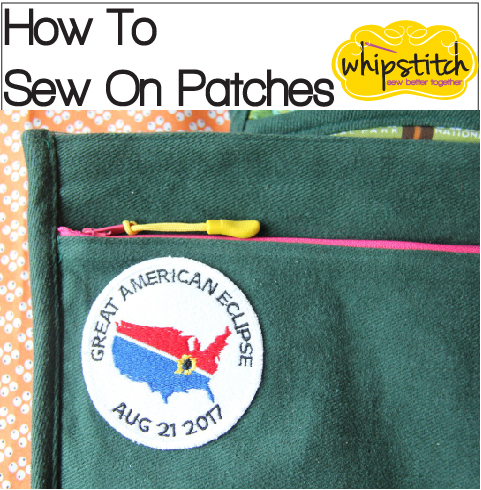 How to Sew On Patches By Machine | Whipstitch