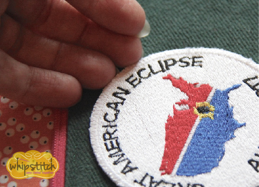 checking the fuse iron on patch | Whipstitch