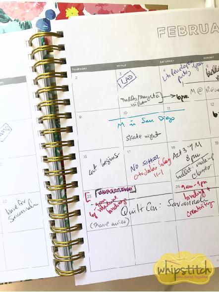 organization for creative jobs | inside the day designer planner | Whipstitch