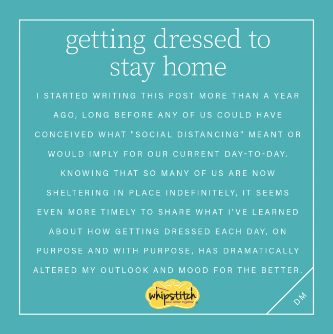 text image describing the author's journey to dressing better