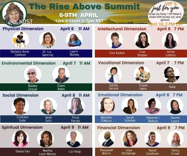 The Rise Above Summit is happening NOW! Are you registered?