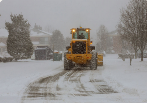 Snow Management Removal using Truck on the road