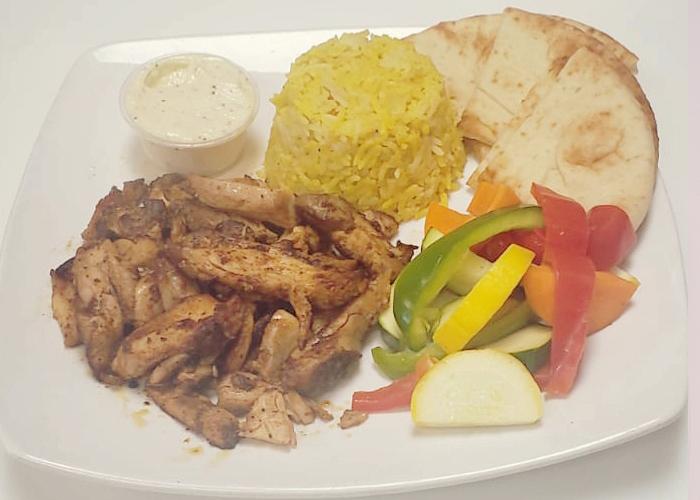 Chicken Shawerma - Dinner plate