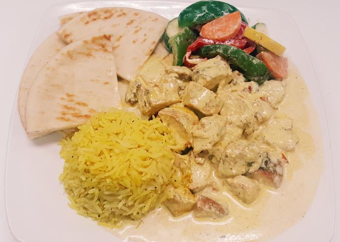 Garlic Chicken Dinner Plate