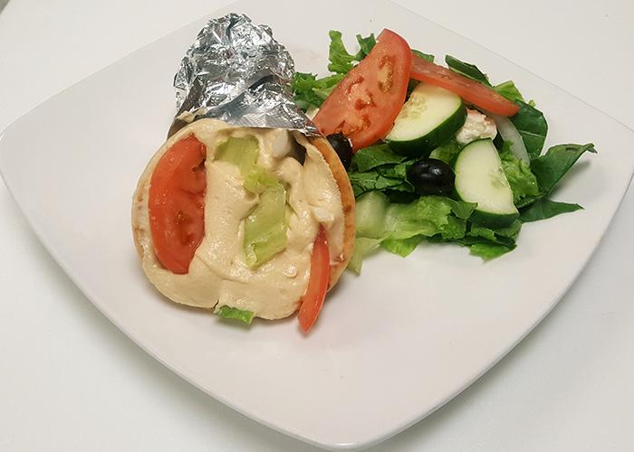 Hummus or Baba Ghanouj Sandwich