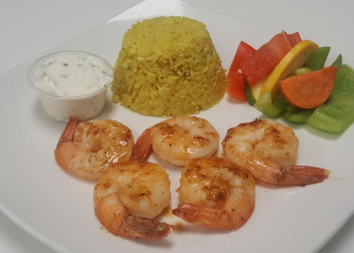 Shrimp Kabob Dinner Plate
