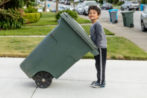 Setting up trash pickup and recycling