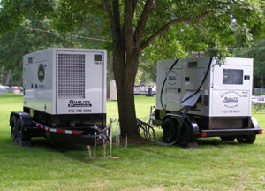 Quality Propane provides propane and diesel generators for events.