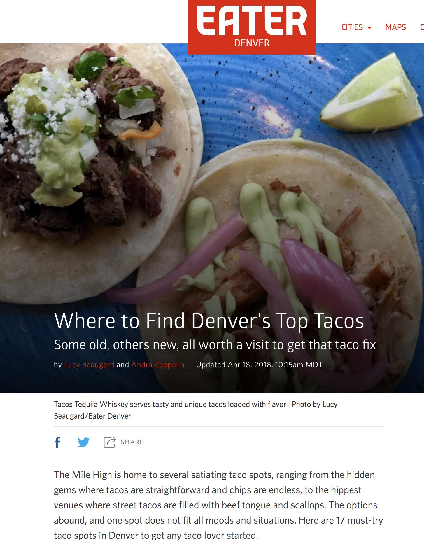 Eater Denver, April 2018