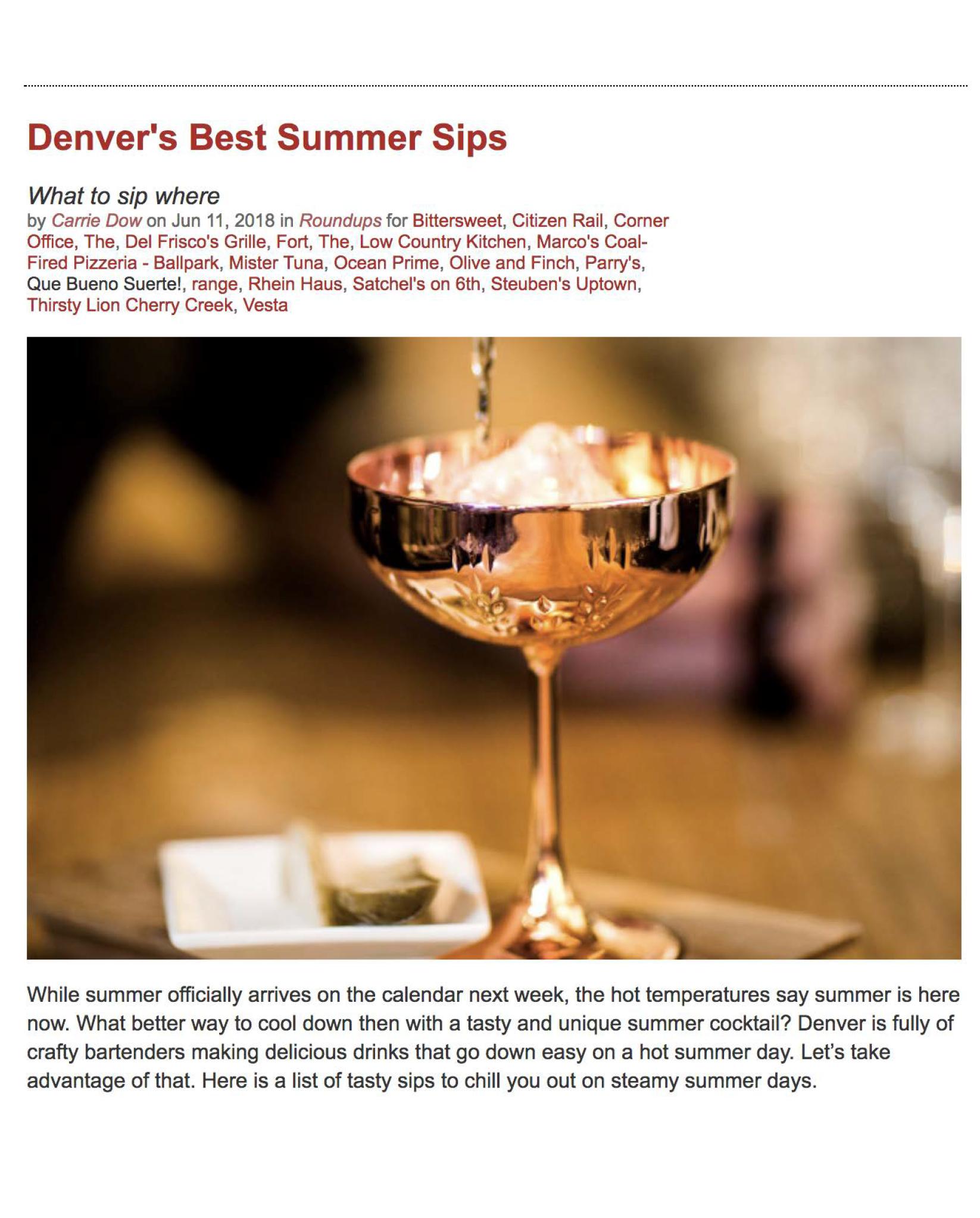 Drink Denver, June 2018