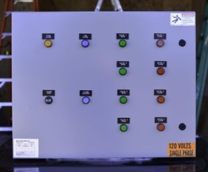 Photo of a control box for Sentronic electronic tank level controler by National Service and Controls water tank level sensors and controls