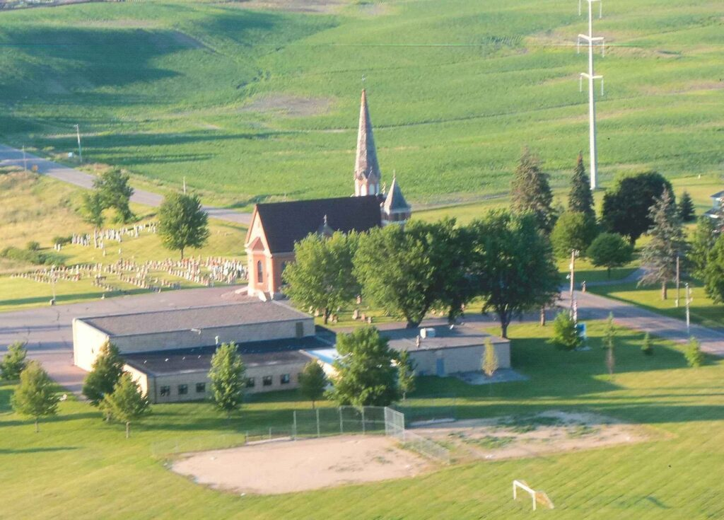 2015 Church + School Arial View