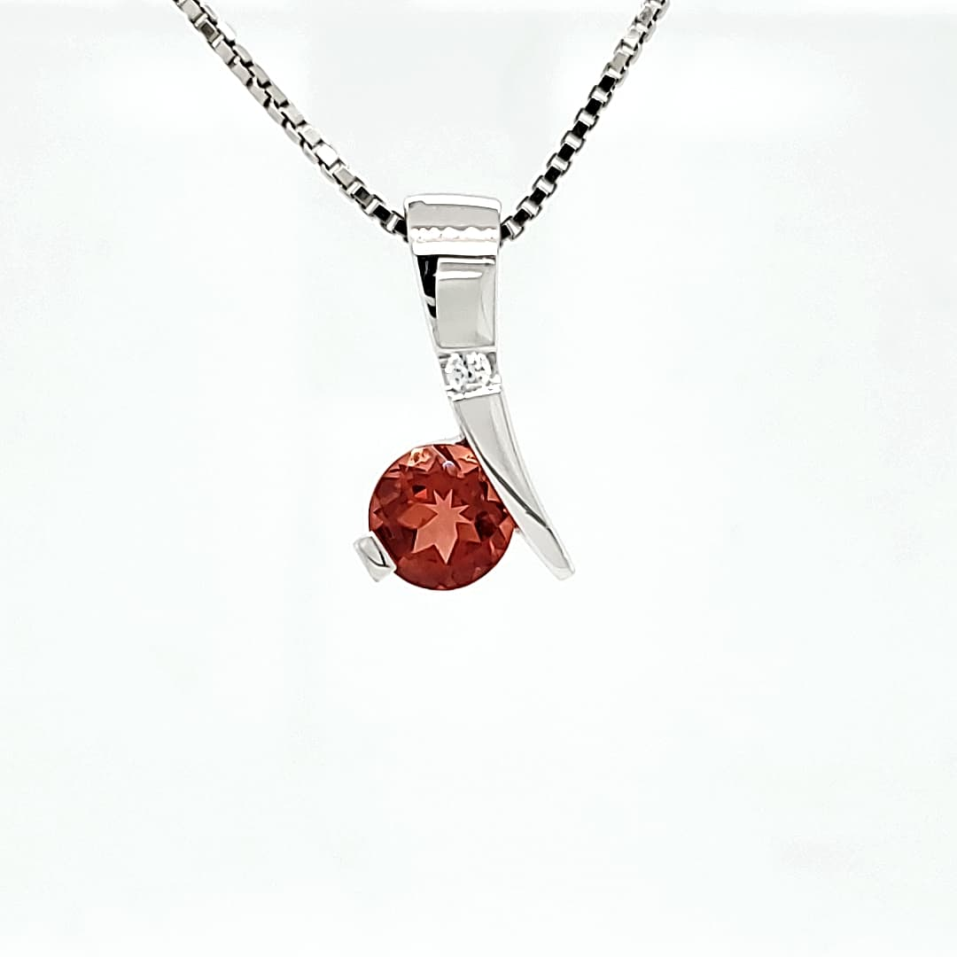Accented Sunstone Necklace