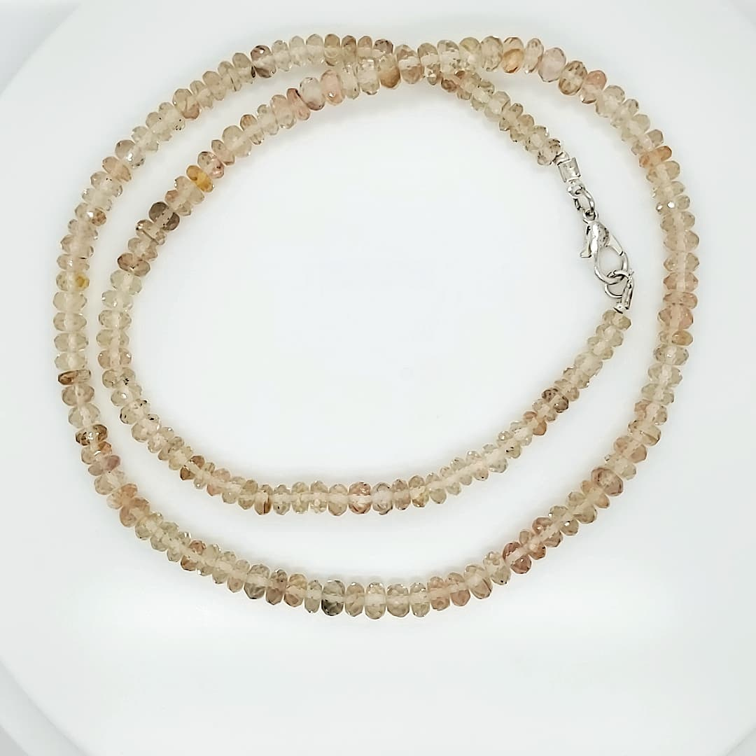 Faceted Rough Sunstone Necklace