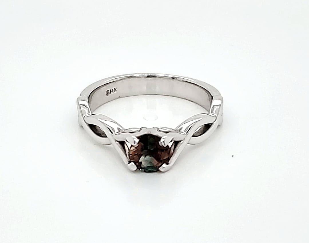 Infinity Inspired Custom Sunstone Ring (1)