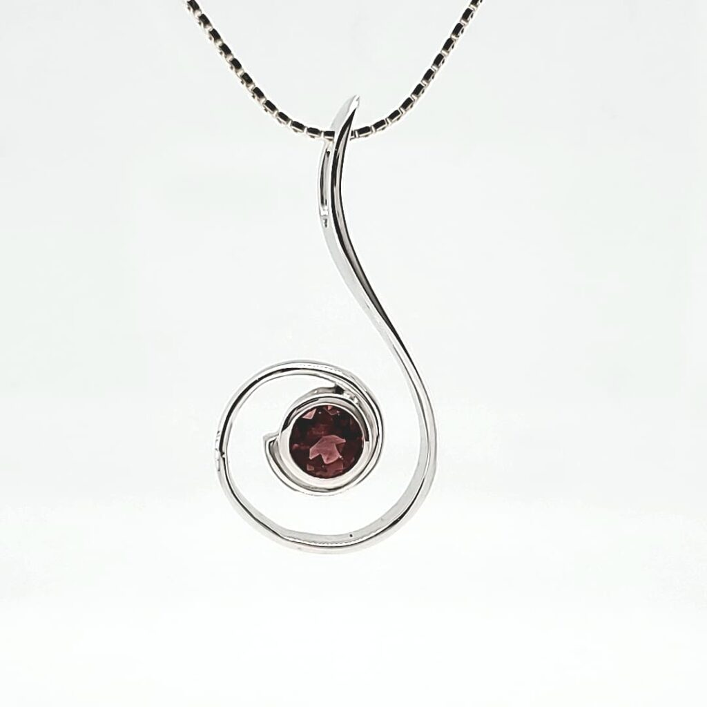 Music Note Solitaire Sunstone Pendant (1)