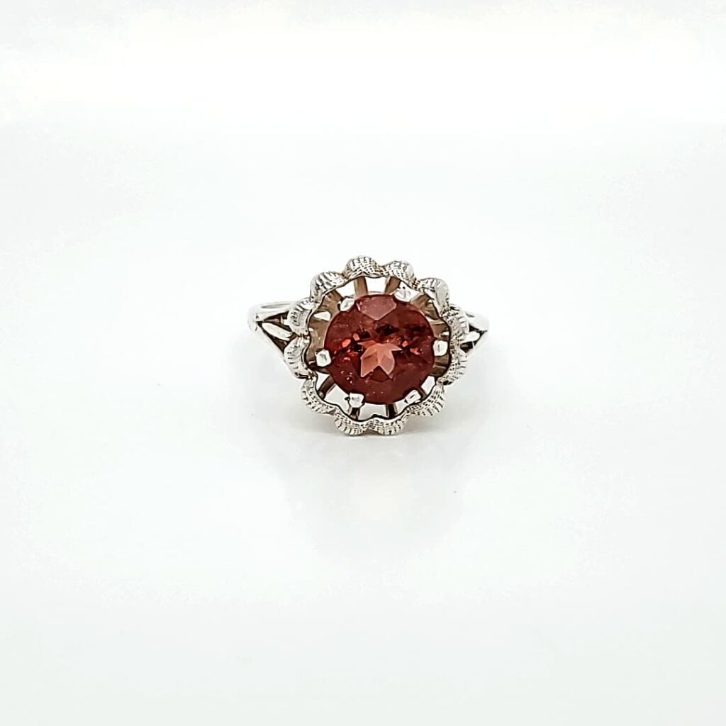 Sterling Silver Fashion Sunstone Ring (1)