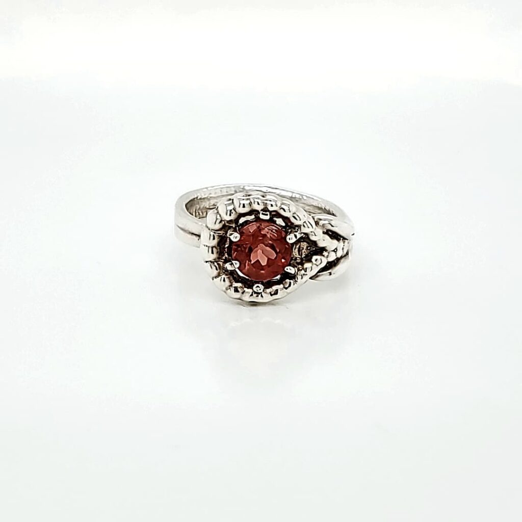 Sterling Silver Fashion Sunstone Ring 2 (1)