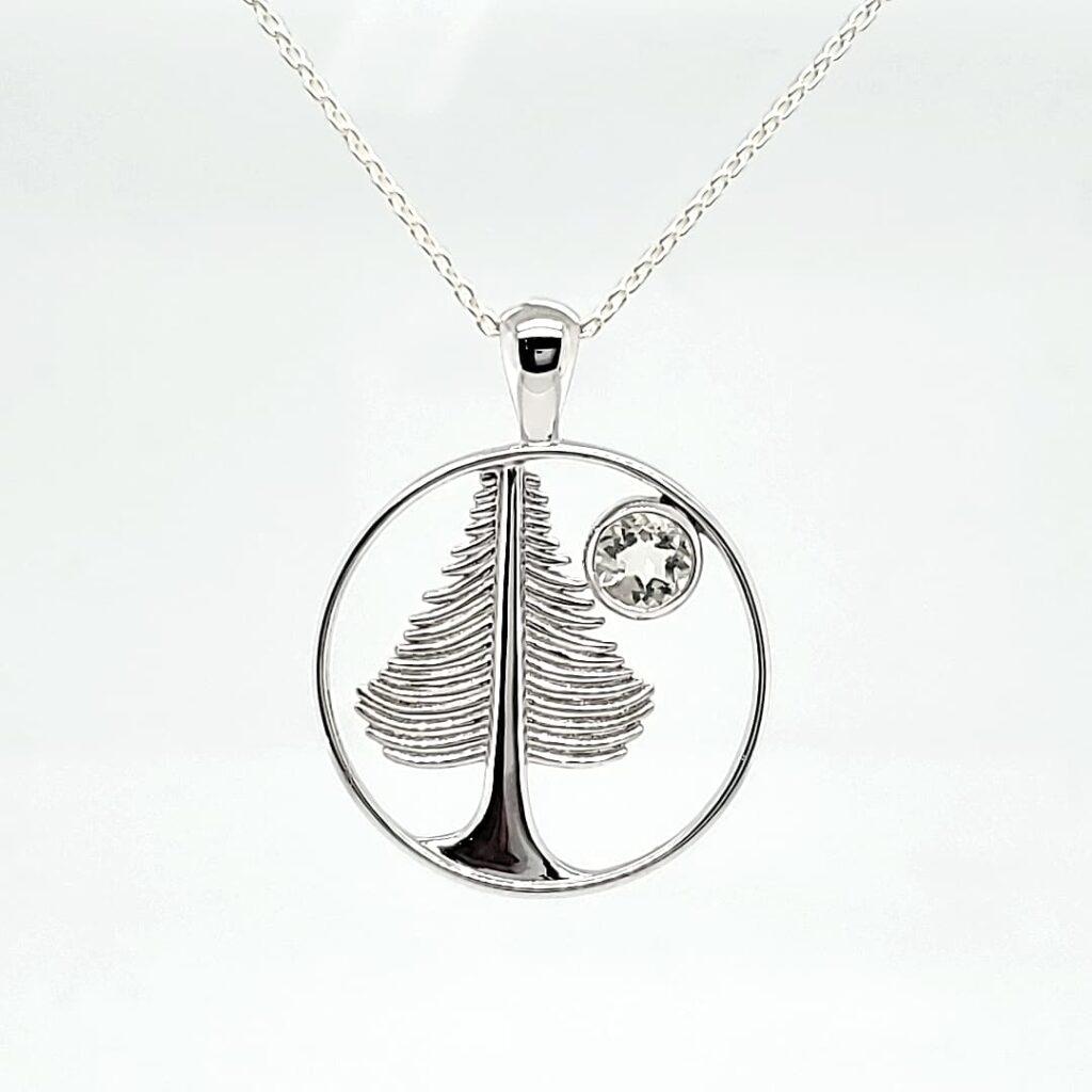 Tree Design Sunstone Necklace (1)