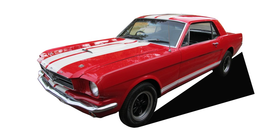 1966 Ford Mustang Coupe Red White Stripes