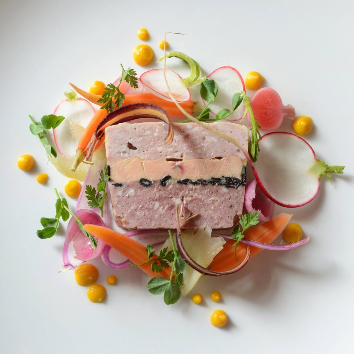 Goose and rabbit foie gras terrine