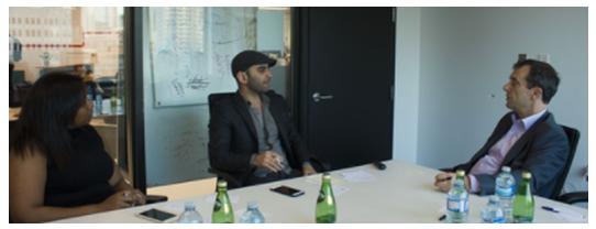 Guy Dartigues (Right) with Ilias Benjelloun (Middle) and Layial El-Hadi (Left) at FormFintech's Formathon 2017